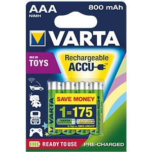 VARTA Ready-2-Use Toy, 4xAAA, 800mAh VARTA 56783 101 404