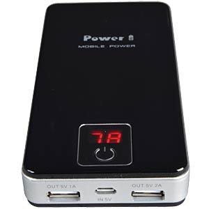 Powerbank VTB-28, 10,000 mAh, LED display, 2x USB VITEBO VTB-28