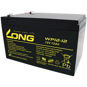 Rechargeable lead-fleece battery, 12 V, 12 Ah, 100 x 151 x 99 mm KUNG LONG WP12-12