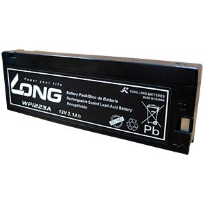 Maintenance-free rechargeable lead-fleece battery, 2.1 Ah, 12 V KUNG LONG WP 1223A