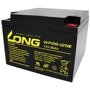 Cyclic lead battery, 12 V, 26 Ah KUNG LONG WP 26-12NE