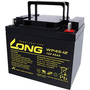 Maintenance-free rechargeable lead-fleece battery, 45 Ah, 12 V KUNG LONG WP 45-12