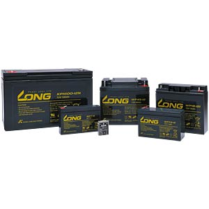 Maintenance-free rechargeable lead-fleece battery, 0.8 Ah, 12 V KUNG LONG WP0.8-12