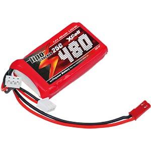 Akku-Pack, Li-Polymer, 7,4 V, 480 mAh, 25 C XCELL 134439