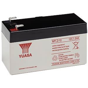 YUASA Blei-Vlies-Akku, 1,2 Ah, 12 V, VdS YUASA NP1.2-12