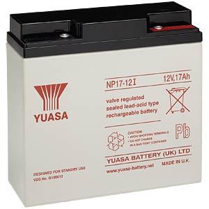 YUASA AGM battery, 17 Ah, 12 V, VdS YUASA NP17-12I