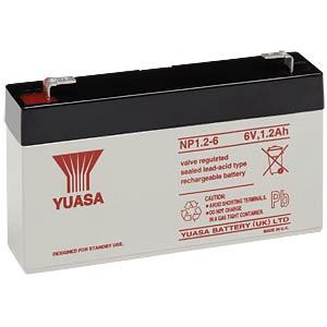 YUASA AGM battery, 1.2 Ah, 6 V YUASA NP1.2-6