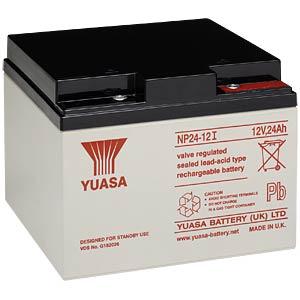 YUASA AGM battery, 24 Ah, 12 V, VdS YUASA NP24-12I