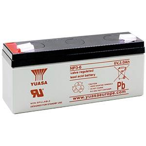 YUASA AGM battery, 3 Ah, 6 V YUASA NP3-6