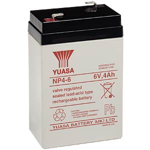YUASA lead acid AGM battery 4 Ah, 6 V YUASA NP4-6
