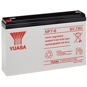 YUASA AGM battery, 7 Ah, 6 V YUASA NP7-6