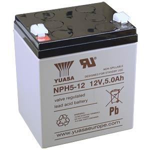 YUASA high-current battery, 12 V, 5 Ah, Faston 6.3 mm YUASA NPH5-12