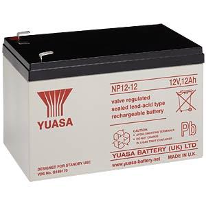 YUASA Blei-Vlies-Akku, 12 Ah, 12 V, VdS YUASA NP12-12