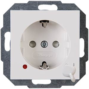 Outlet with switch HK07 pure white KOPP 136029003