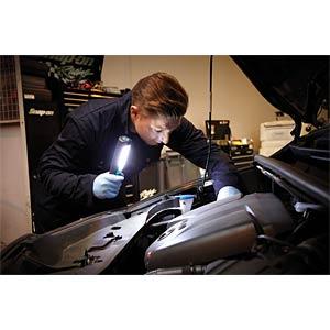 LED-Arbeitsleuchte, 250 lm, Akku, 2200 mAh, schwarz / blau RING AUTOMOTIVE 140948