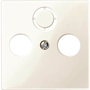 Central plate for aerial sockets — System M, white, glossy MERTEN 296744