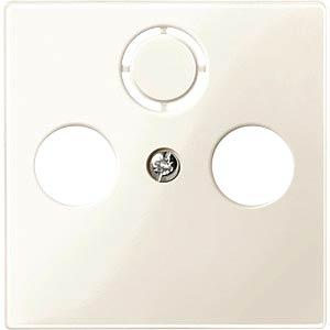 System M, Zentralplatte, Antennendose, weiß, glänzend MERTEN 296744