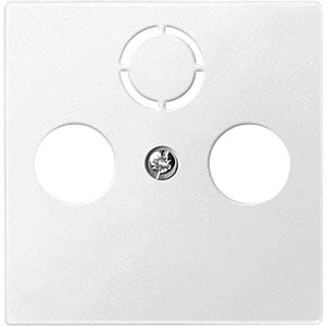 Central plate for aerial sockets — System M, polar white MERTEN 297519