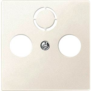 Central plate for aerial sockets — System M, white MERTEN 297544