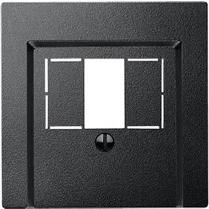 Zentralplatte - System M, TAE/Audio/USB, anthr. MERTEN 297914