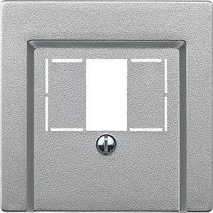 System M, Zentralplatte, TAE/USB-Einsatz, aluminium, edelmatt MERTEN 297960