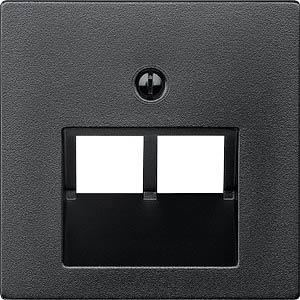 System M, Zentralplatte, UAE-Einsatz, anthrazit, edelmatt MERTEN 298014