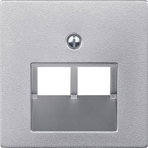 Zentralplatte für UAE-Einsatz - 2-fach, System M, aluminium MERTEN 298060