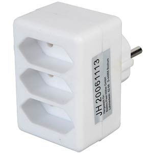 Safety plug, 3 x Euro sockets, white FREI
