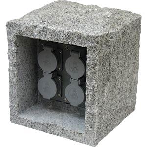 Steinsteckdose 4-fach HEITRONIC 36071