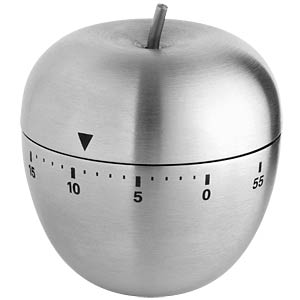 "Stainless steel ""apple"" kitchen timer TFA DOSTMANN 38.1030.54"
