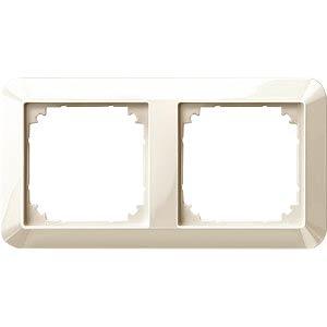 1-M frame — 2-gang, white, glossy MERTEN 389244