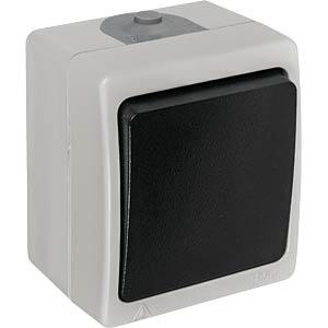 Aufputz-Feuchtraum Universalschalter HEITRONIC 40144
