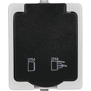 HEIT 40145 - Aufputz-Feuchtraum Schutzkontakt
