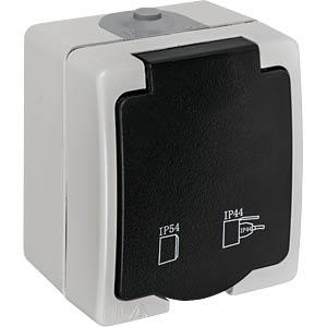 Aufputz-Feuchtraum Schutzkontakt HEITRONIC 40145