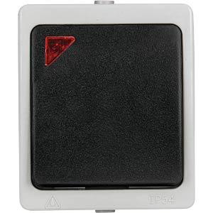 Aufputz-Feuchtraum Kontrollschalter HEITRONIC 40146