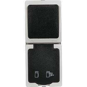 Aufputz-Feuchtraum Schalter-/Steckdose HEITRONIC 40149
