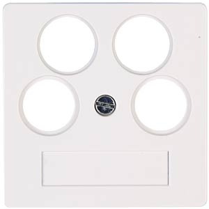 Aerial outlet cover four-w HK07 pure white KOPP 491829003