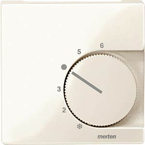 Zentralplatte - System M, Temperaturregler UM, ws MERTEN 534744