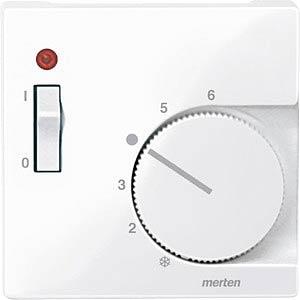 Zentralpl. f. RTR-Eins. m. Schalter - System M, aktivweiß, glänz MERTEN 534825