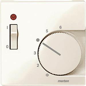 System M, Zentralplatte, Temperaturregler, weiß, glänzend MERTEN 534844