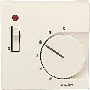 System M, Zentralplatte, Temperaturregler, weiß, edelmatt MERTEN 536144