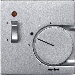 System M, Zentralplatte, Temperaturregler, aluminium, edelmatt MERTEN 536160