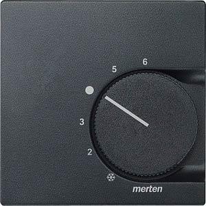 System M, Zentralplatte, Temperaturregler, anthrazit, edelmatt MERTEN 536214