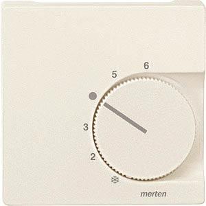 System M, Zentralplatte, Temperaturregler, weiß, edelmatt MERTEN 536244