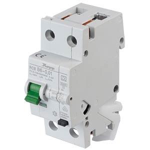 RCD/circuit breaker - 10mA, 1+N, B 6 KOPP 740610011