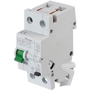 RCD/circuit breaker - 30mA, 1+N, B 6 KOPP 740615016