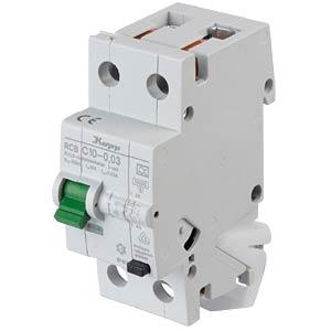 RCD/circuit breaker - 30mA, 1+N, C 10 KOPP 741016010