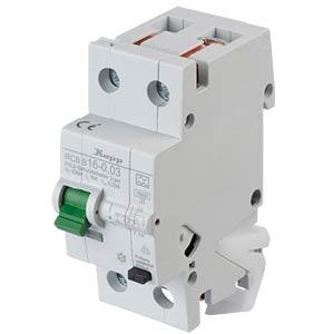 RCD/circuit breaker - 30mA, 1+N, B 16 KOPP 741615017