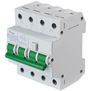RCD/circuit breaker - 30mA, 3+N, C 16 KOPP 741647010