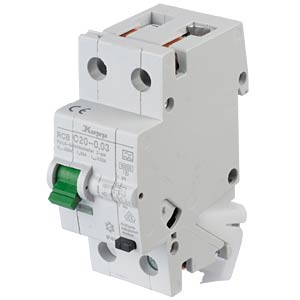 RCD/circuit breaker - 30mA, 1+N, C 20 KOPP 742016011